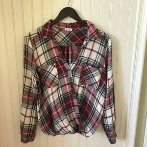 River Island plaid women's blouse in Size 12.
